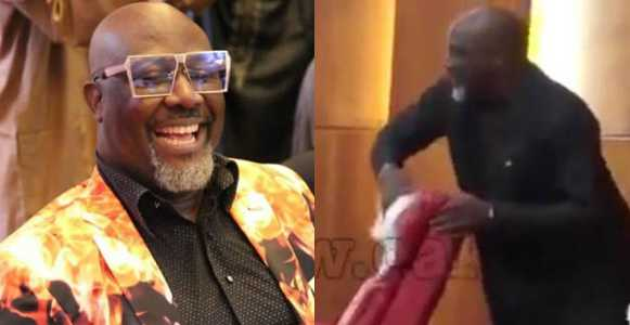 Senator Dino Melaye uses handkerchief to clean 'Juju' from Saraki's seat (Photos/video)