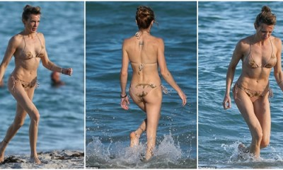 Katie Cassidy showcases her toned body in barely there string bikini during holiday in Miami Beach