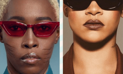 Nigerian model with tribal marks to begs for Rihanna's attention after starting off online campaign