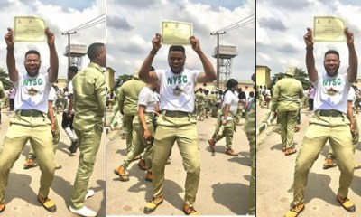 Actress Regina Daniels' lover Somadina passes out from NYSC