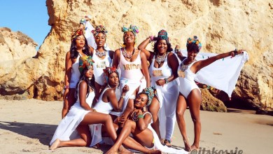 Nollywood Actor Michael Okon's bride-to- be, Kosi Obialor releases photos from Wakanda inspired Bachelorette Shoot