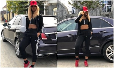 BamBam shows off her flat tummy and hot body in new photos
