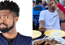Hilarious! Basketmouth Calls Wizkid Out For Eating Rice Without Stew