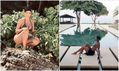 Mother of five Nicole Murphy flaunts her banging bikini body as she vacations in Thailand (Photos)
