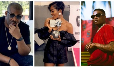 "Wizkid breaks silence over Tiwa Savage's MTV Win as Don Jazzy Calls Her ""The Stew"""