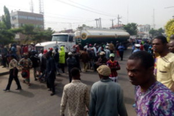 Outrage as petrol tanker crushes newly-wedded Okada rider in Ondo