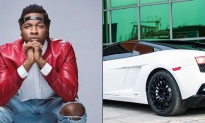 TRENDING: Runtown's Lamborghini destroyed at Burna Boy's concert last night