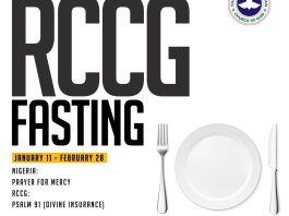 RCCG 2019 Fasting And Prayer Points 16 February Day 37