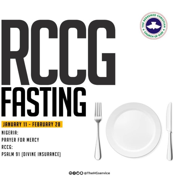 RCCG 2019 Fasting And Prayer Points 22 January - Day 12