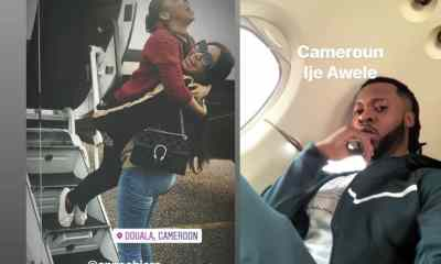 Flavour and Anna Banner's love waxing stronger as they travel to Cameroon together for a show (Photos)