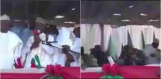 Watch As Podium collapses during PDP Rally In Kebbi