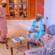 Photos: President Buhari, his wife Aisha and daughter, Zahra, pictured together all smiles following his re-election