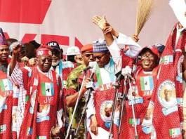 Viral Video: Buhari makes another blunder at the APC rally in Ekiti state.