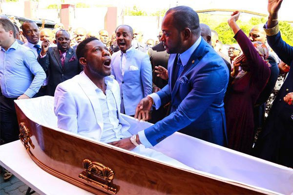 South African Pastor Alph Lukau breaks silence after fake miracle of resurrecting dead man went viral