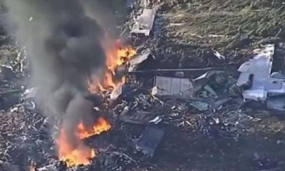 Pilot dies after crashing aplane into aclubhouse while trying to kill his wife