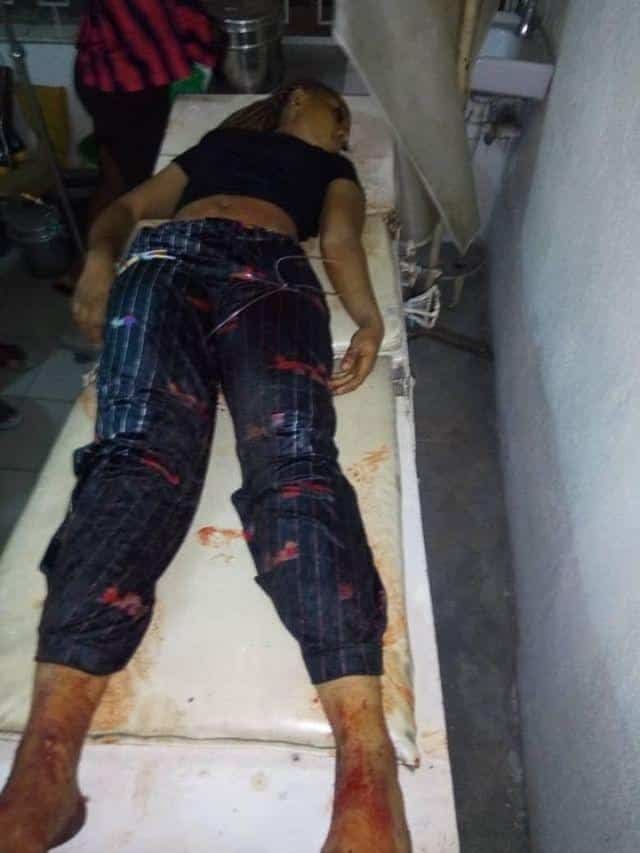 SARS officers allegedly kill lady, leaves her boyfriend unconscious in Lagos (See Photos)