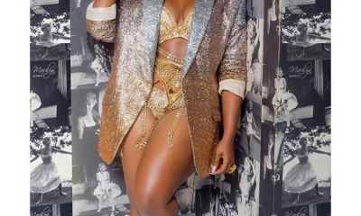 Cee-c show off her hot gold pant and bra at BamBam's lingerie private party