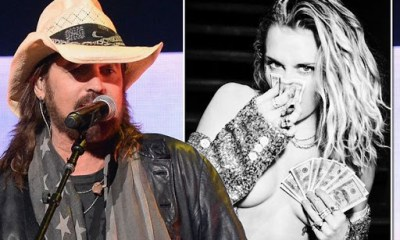Miley Cyrus pays tribute to dad Billy Ray's chart success - by posing topless