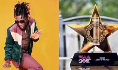 Burna Boy Wins African Artiste Of The Year At VGMA 2019 (Full List Of Winners)