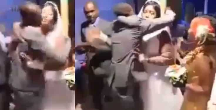 Groom beats and drags best man away from his bride, for hugging her tightly