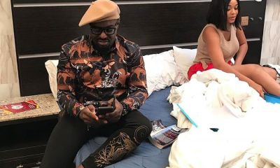 Nollywood actor Jim Iyke in a 'Blow Job' move (See Photos)