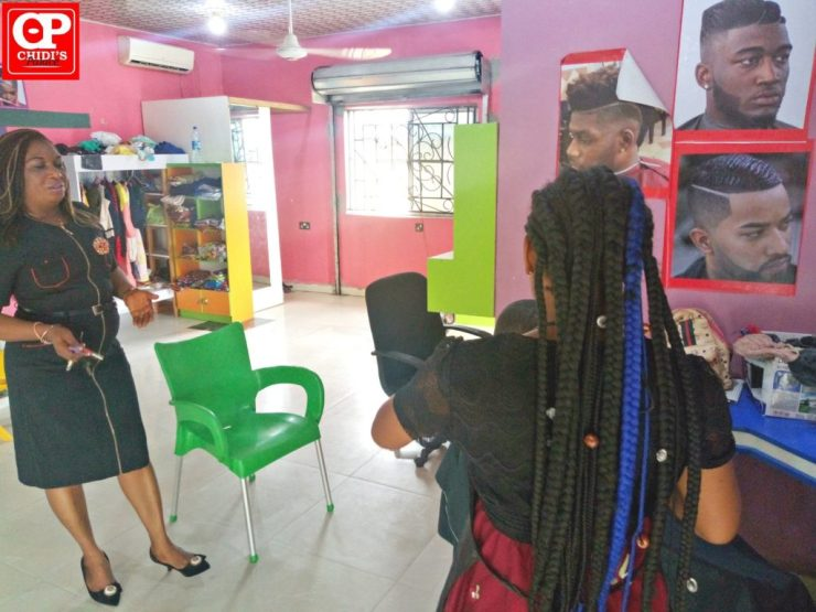 DG GirlChild Bayelsa visits 21-year-old female Bayelsa Barber (Photos/Video)