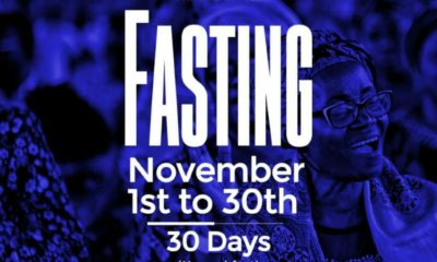 RCCG November 2019 30 Days Fasting Prayer Points Day 30
