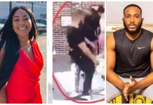 BBNaija 2020: Watch moment Kiddwaya almost fell down while staring at Erica's backside