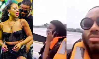 Kiddwaya and Erica on a weekend boat cruise in Lagos (Video)