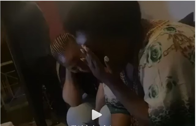 Slay queens captured praying and speaking in tongues during an in-house party