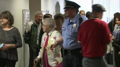 Police cuff and arrest 102 year old woman 2