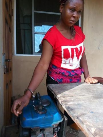 Man arrested for handcuffing his wife with generator