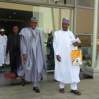 President Buhari rocking his Gucci shoe