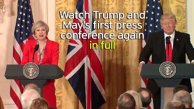 Donald Trump welcomed Theresa May to the White House today
