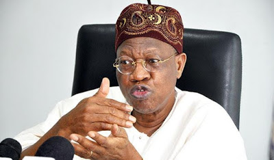 Lai Mohammed denies speculations that Pres Buhari is so sick that he is now being fed with a tube