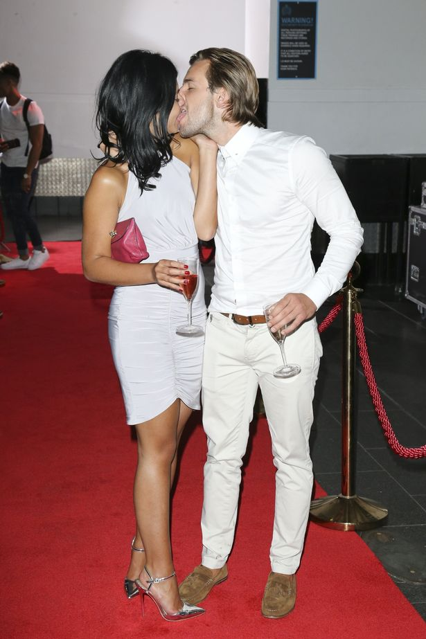 Love Island's Nathan Massey and Cara De La Hoyde pack on the PDA