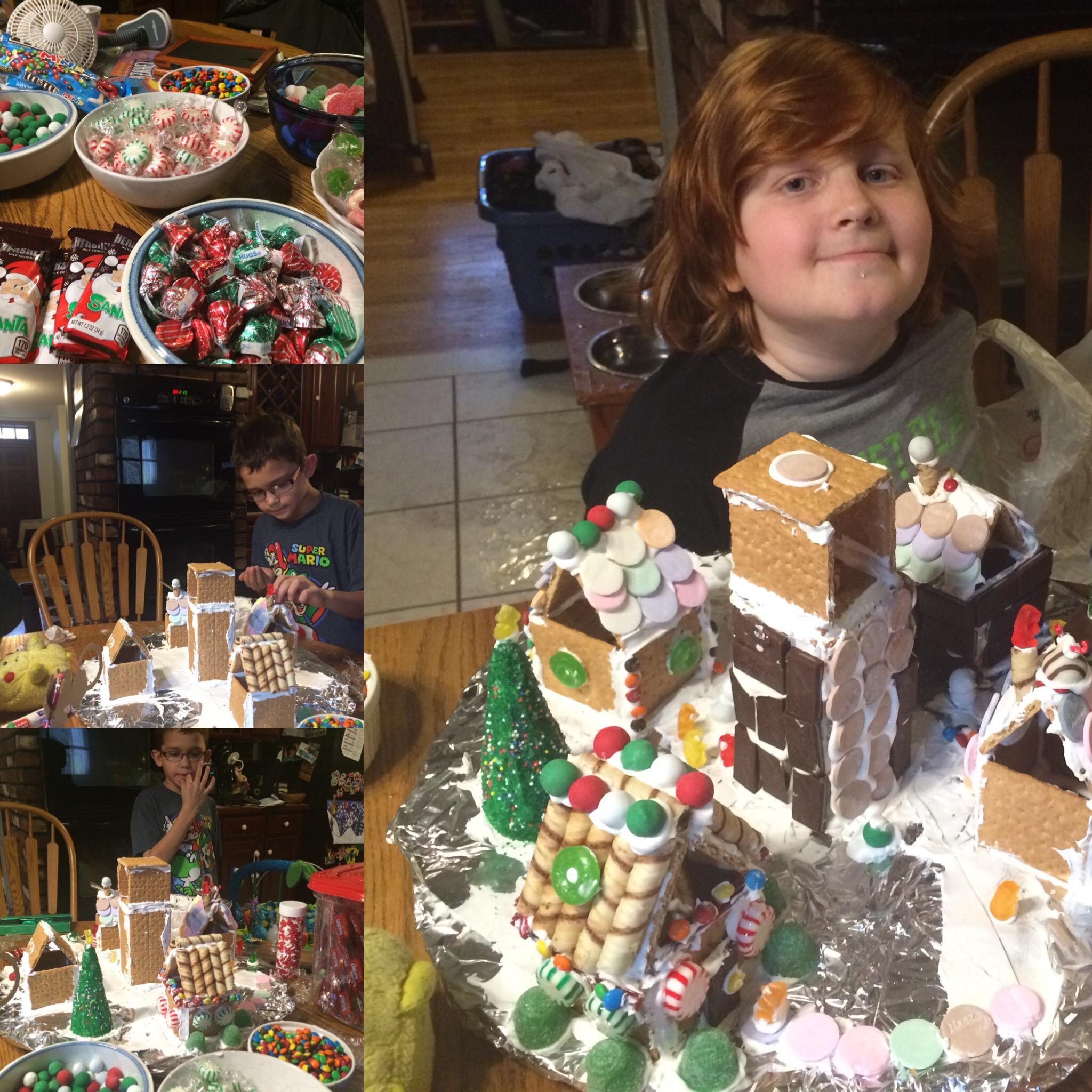 Graham cracker Christmas houses