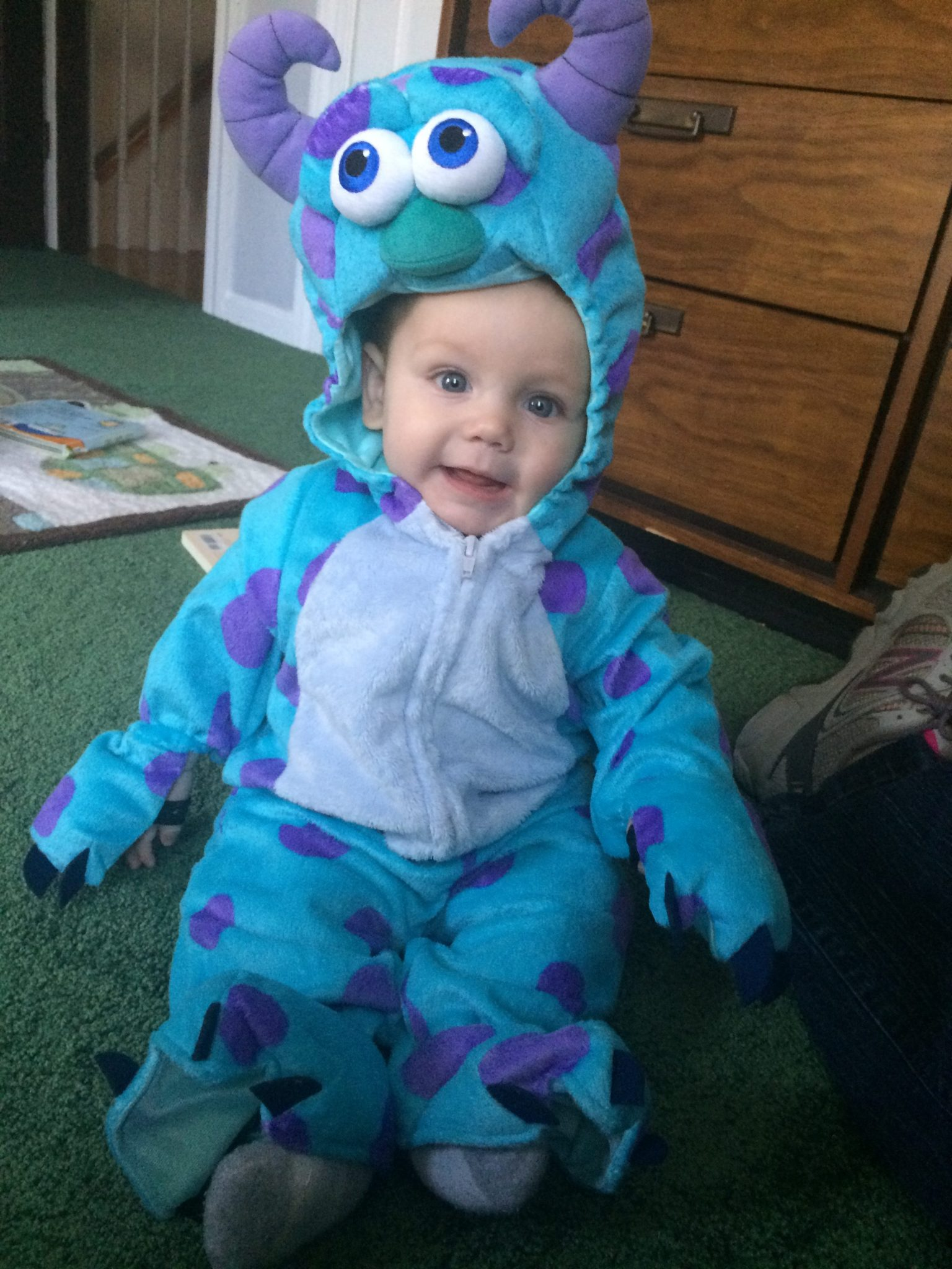 Alex in his Monsters Inc Costume