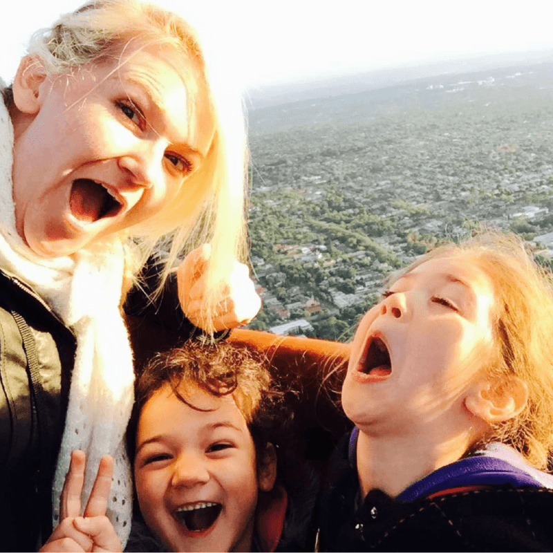 Kylie Travers with her daughters