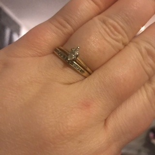My crappy engagement and wedding rings