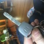Old Honda Accord Spare Key