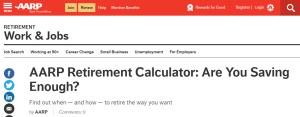 AARP Retirement Calculator Review