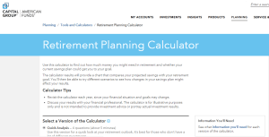 American Funds Retirement Calculator Review