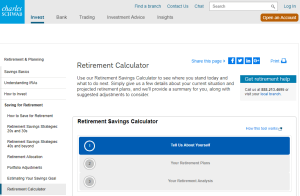 Charles Schwab Retirement Calculator Review