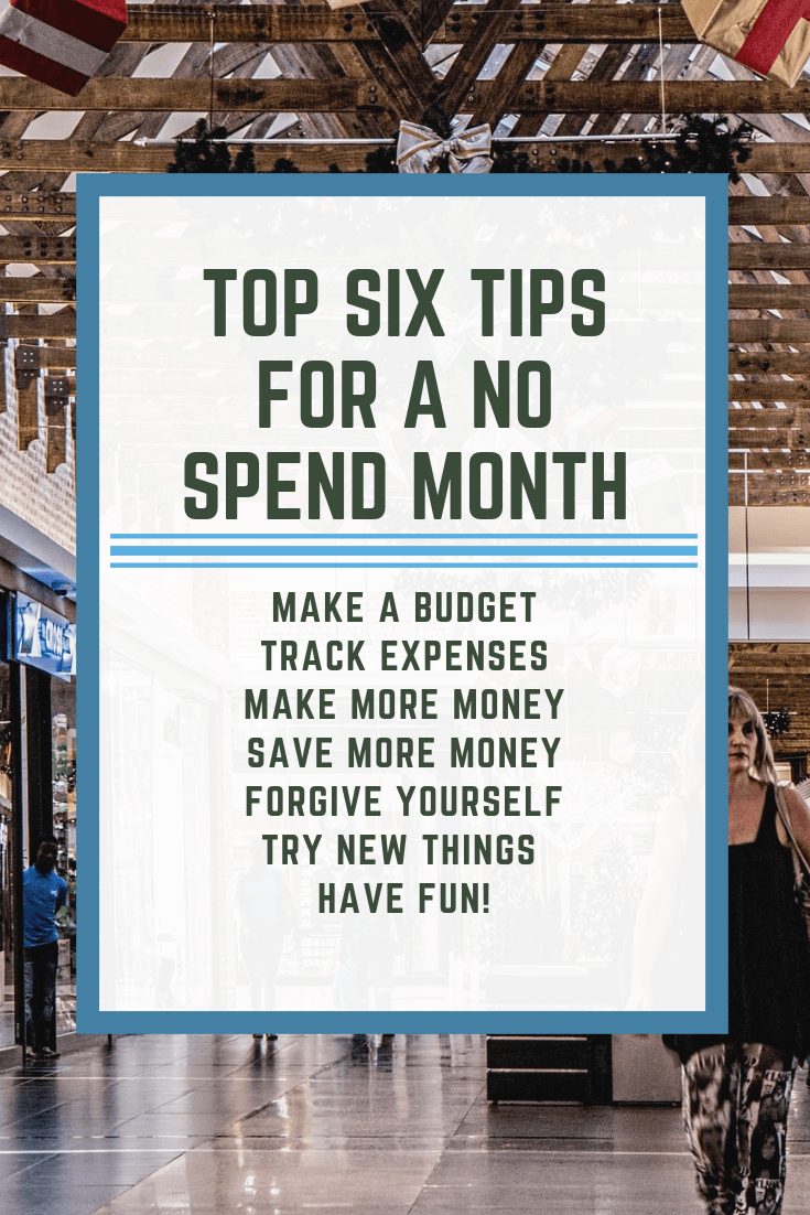 Top Six Tips For a No spend month