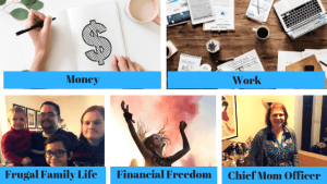 Money. Work. Frugal Family Life. Financial Freedom. Chief Mom Officer