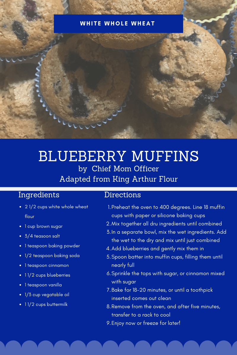 White Whole Wheat Blueberry Muffins-2