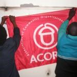 Raising the ACORN flag in the office