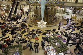 """""""die-in""""at a Missouri mall"""