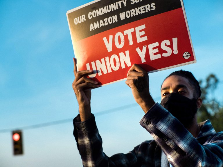 amazon union, union workers, amazon union vote, bessemer alabama, RWDSU